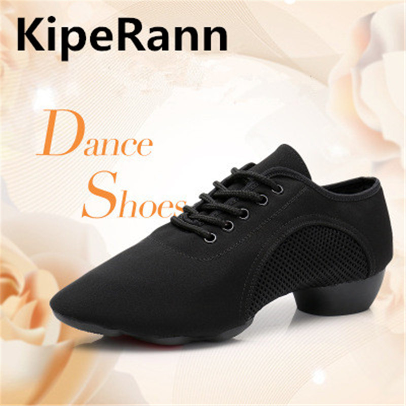 Men's Latin Ballroom Dance Shoes Professional Black Canvas Latin Ladies Shoes Large Size Low With Tango Ballroom Dance Shoes