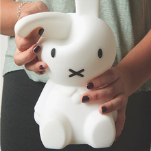 Rabbit LED Night Light USB Silicone Touch Sensor Dimmable Children Animal Cartoon Decoration Gift Living Room Bedroom Table Lamp