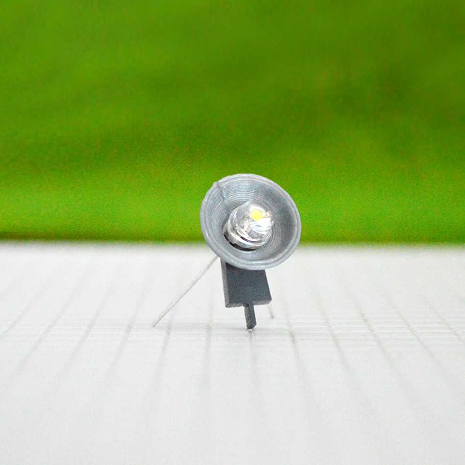 20Pcs Modellbahn LED Laternenpfahl Lamp 1:100 für Hof Straßenbeleuchtung HO
