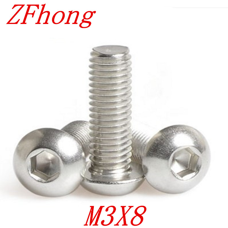 2BA X 3//4 ISO 7380 BUTTON HEAD SOCKET CAP SCREW GRADE 10.9