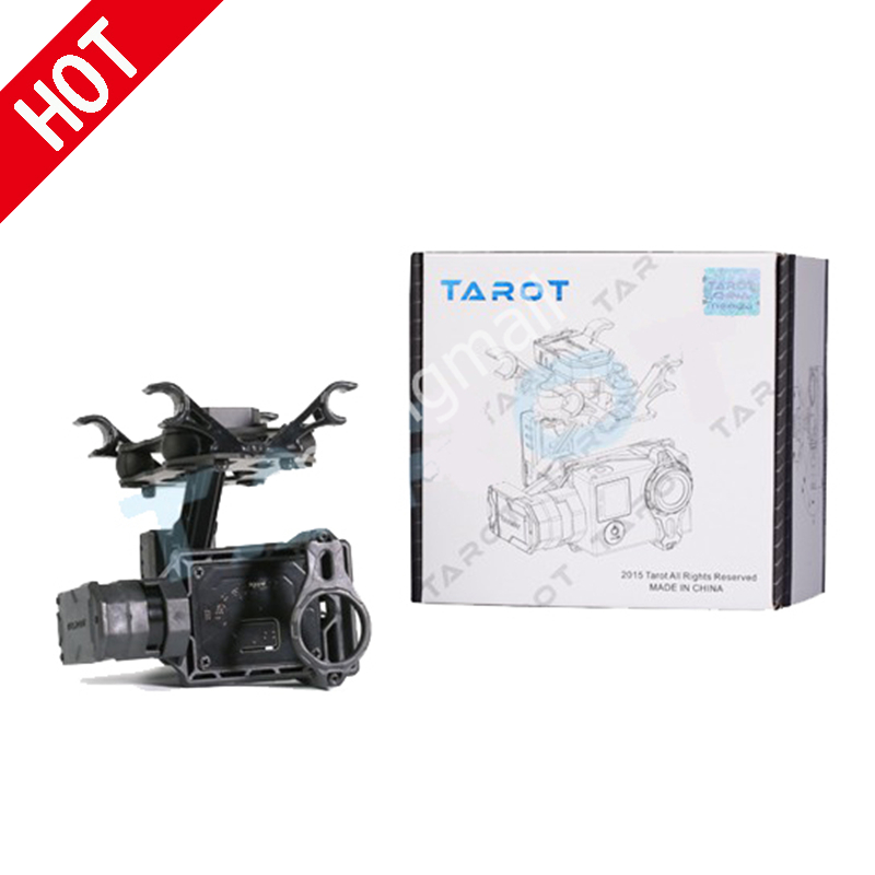 Tarot T2-2D 2 axes sans balais cardan pour Gopro Hero 4/3 +/3 TL2D01 bricolage Drone FPV