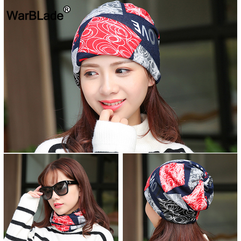 WarBLade Fashion Women Hat Polyester Adult Casual 3 Use Caps Scarf   Skullies     Beanies   Women's Spring Autumn Bonnet Hats