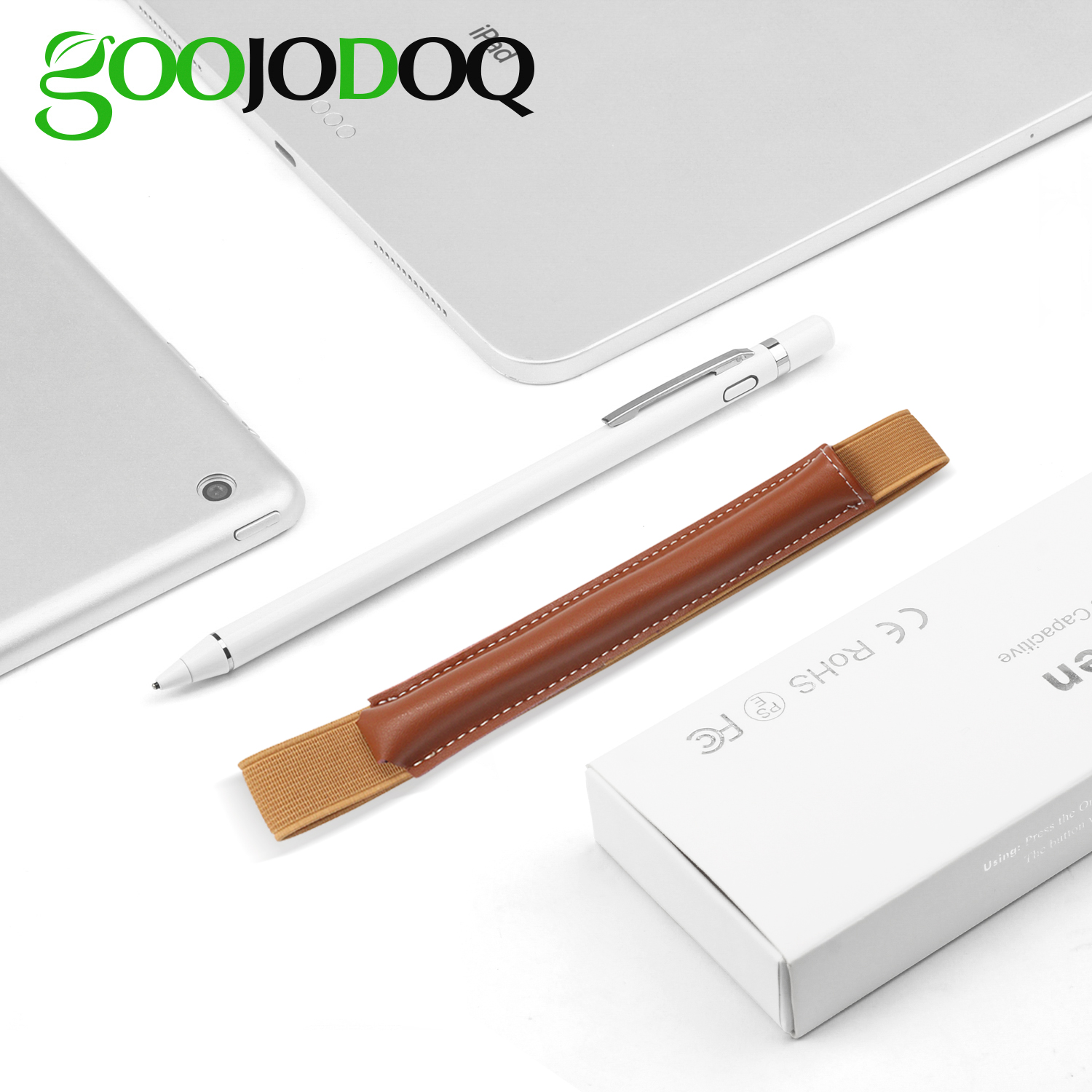 GOOJODOQ Stylus For Apple IPad Touch Screen Pen IPad 2018 Pencil Magnetic Cover Universal Drawing Stylus Capacitive+Case