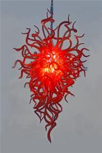 Free Shipping Air Shippment Red 100% Handmade Blown Glass Chandelier