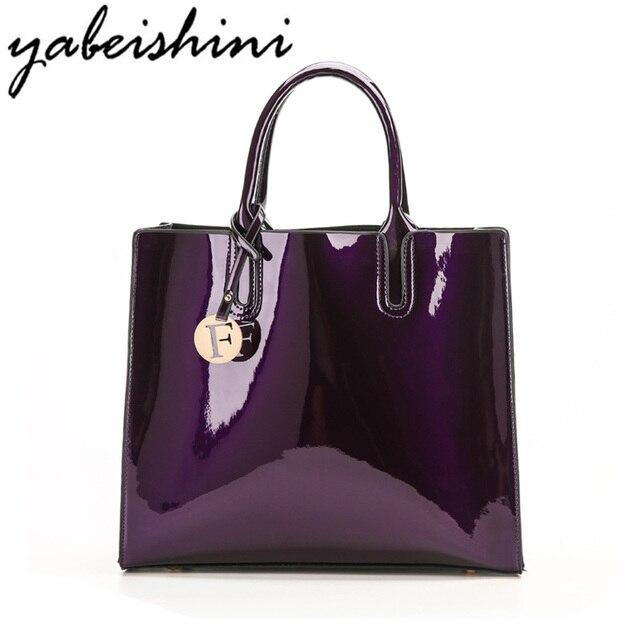 KMFFLY Bright Surface Woman Bags Handbag Fashion Handbags Designer Bag  Luxury Brand Women Big Bag Ladies 0276cf52681f9