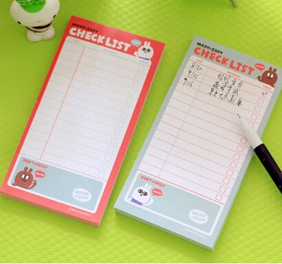 promotional gifts new arrival fashion cute Cartoon Rabbit sticky notepad .Check list.Memo.message post stick marker.label.casual