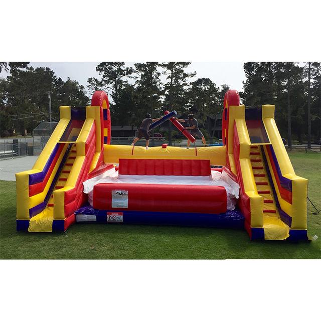 Good quality  inflatable trampoline bouncer inflatable game Fighting game with inflatable slide for sales