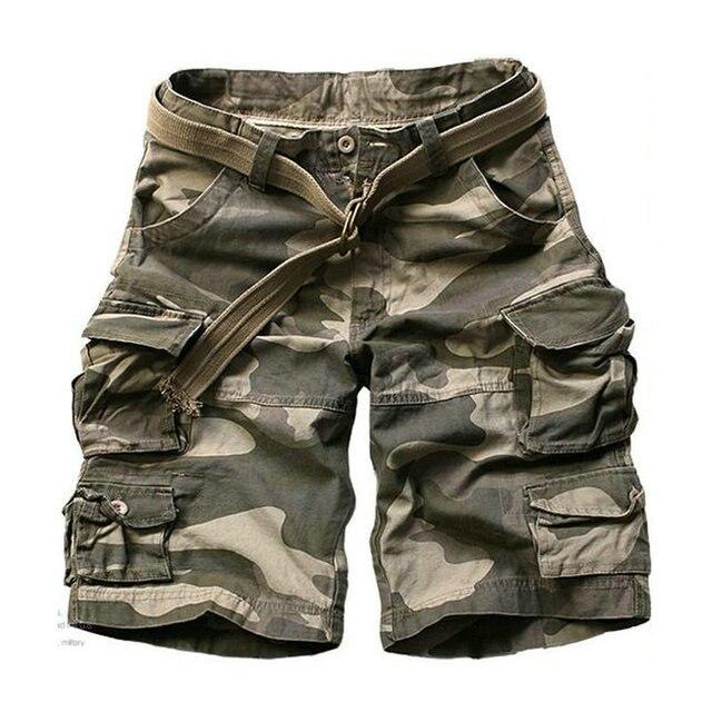 2020 sommer Mode Militär Cargo Shorts Männer Hohe Qualität Baumwolle Casual Herren Shorts Multi tasche (Freies Gürtel)