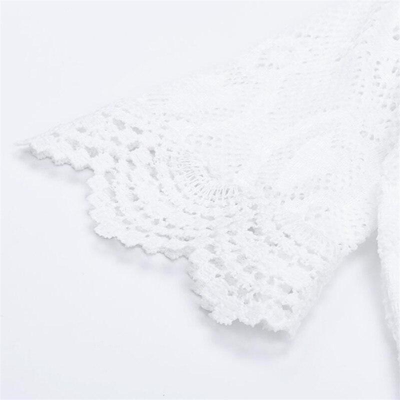 2018 Tosleo Baby Girl Body Koronkowe Biel Babysuit Koronki Noworodek - Odzież dla niemowląt - Zdjęcie 3