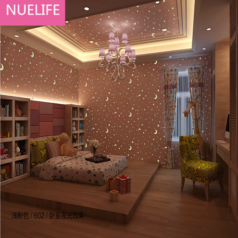 0.53x10m Fluorescent Luminous Wallpapers Star Moon Patterns Men Girls Sleeping room Stars Sky Roofs Kids Room Wallpapers0.53x10m Fluorescent Luminous Wallpapers Star Moon Patterns Men Girls Sleeping room Stars Sky Roofs Kids Room Wallpapers
