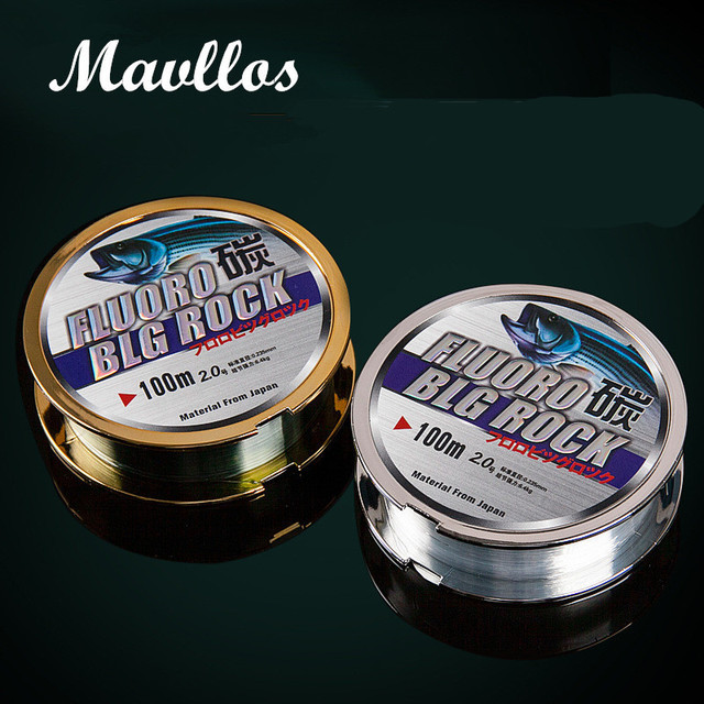 Mavllos 100M Nylon Fishing Line 100% Surface Fluorocarbon Coating 2-50LB Impot Fishing Lines