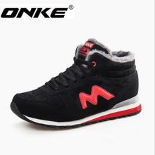 ONKE New Hot Sale Cold winter fashion brand high quality men boots and women boots lovers Plus velvet shoes jx0277