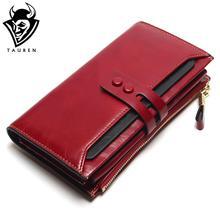 Tauren font b 2017 b font New Women Wallets Genuine Leather High Quality Long Design Clutch