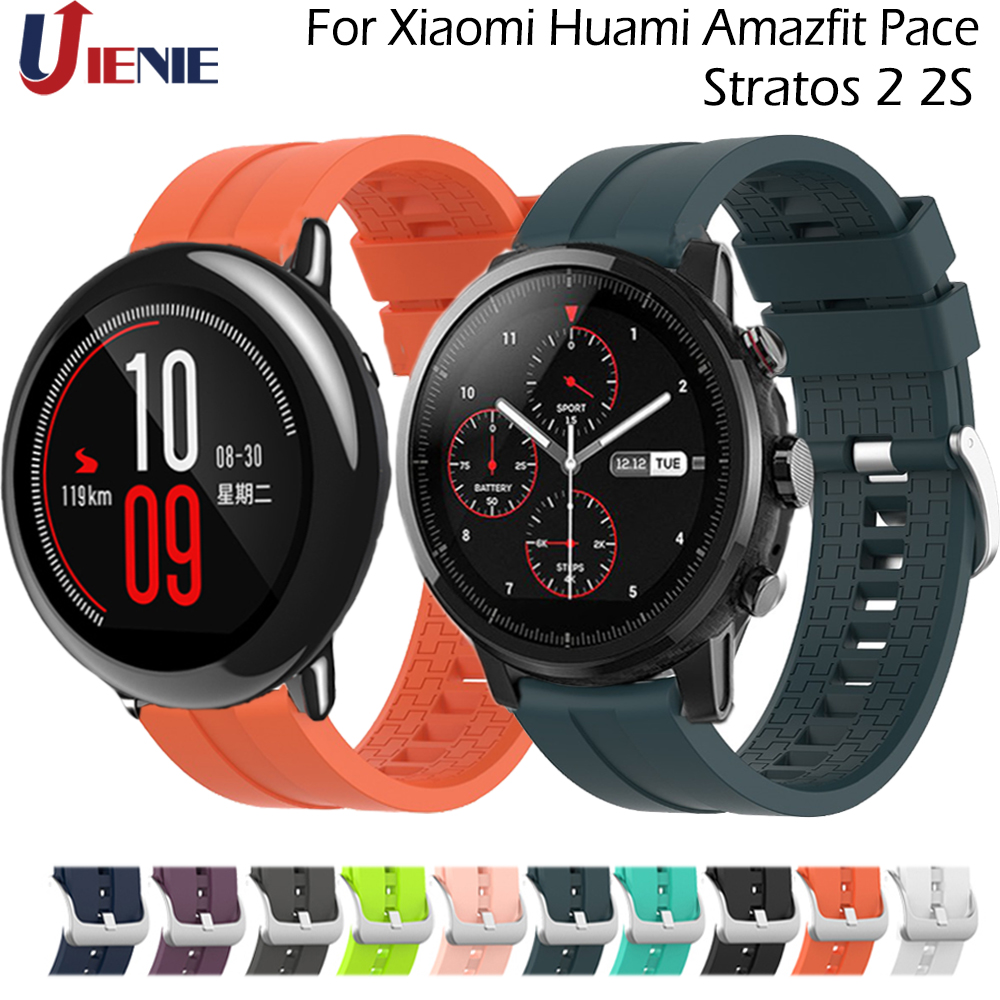 Sport Silicone Watchband Strap For Xiaomi Huami Amazfit Pace/ Stratos 2 2S/GTR 47mm Watch Band Belt 22mm For Galaxy 46mm Gear S3
