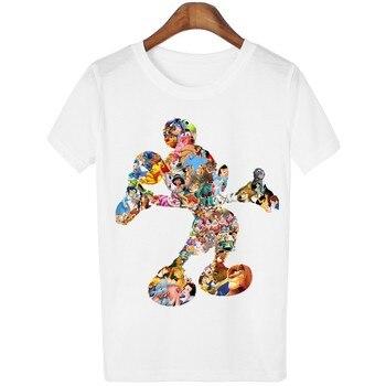 Camiseta Mujer Mickey Tshirt Donald Duck T Shirt Women Funny Female T-shirt Fashion Vetement Femme 100 Cotton Tee Top Plus Size champion freddie mercury shirt