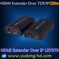 3.0V LKV373 HDMI Extender 120M Over Lan Emitter+Receiver 120meter
