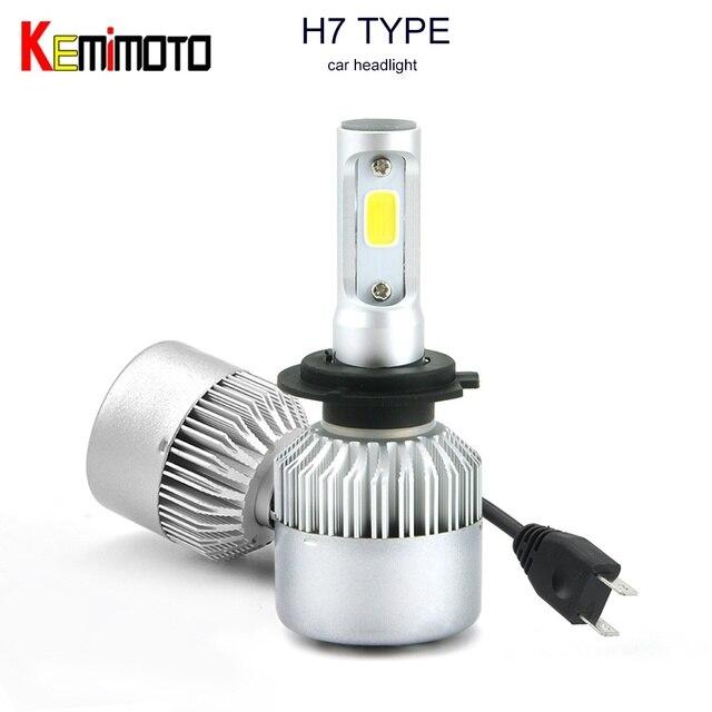 KEMiMOTO H7 H1 H4 HB2 9003 H8 H9 H11 LED Bulb Light Headlights LED ...