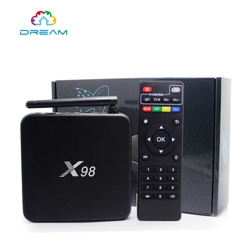 ФОТО  X98 Android TV Box S905 Quad core Set top Box 2 G / 16 G Android 5.1.1 H.265 Media Player Smart TV box