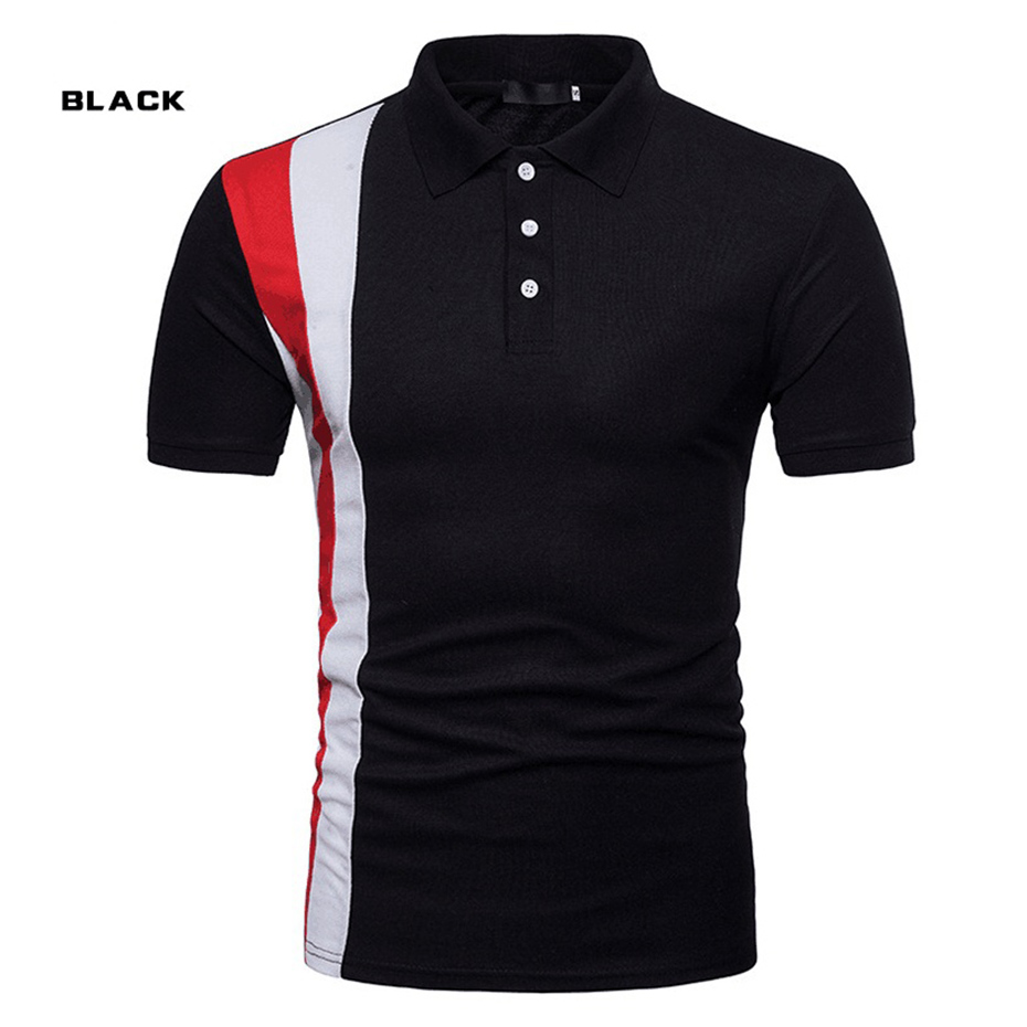 ZOGAA 2019 Brands Men   Polo   Shirt Smart Casual Sports Fashion Short Sleeve Solid Slim Fit Mens Tops Contrast Color   Polo   Shirt Men