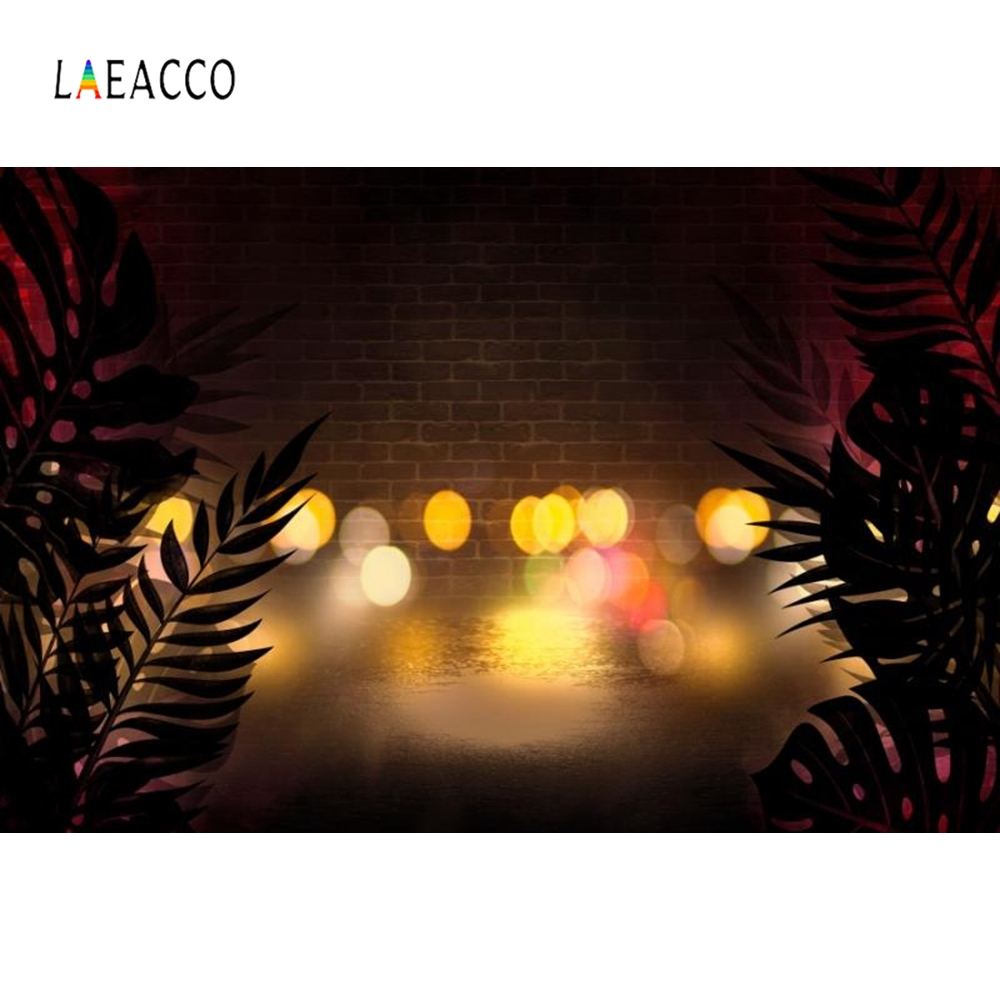 Laeacco Tropical Palm Tree Leaves Beach Night Party Photography Backgrounds Customized Photographic Backdrops For Photo Studio in Background from Consumer Electronics