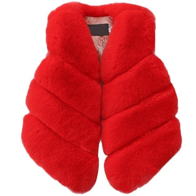 NIEUWE Baby Meisje Winter Kleding Kunstmatige Bont Vest Jassen Warm Vest Kinderen Mouwloze Jas Pasgeboren Bovenkleding Kleding Voor