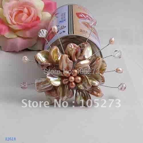 Красивая! брошь в виде цветка, 8 см, большой круглый цветок, Модные женские ювелирные изделия, жемчуг+ раковина+ кристалл,, новинка,, FN2618