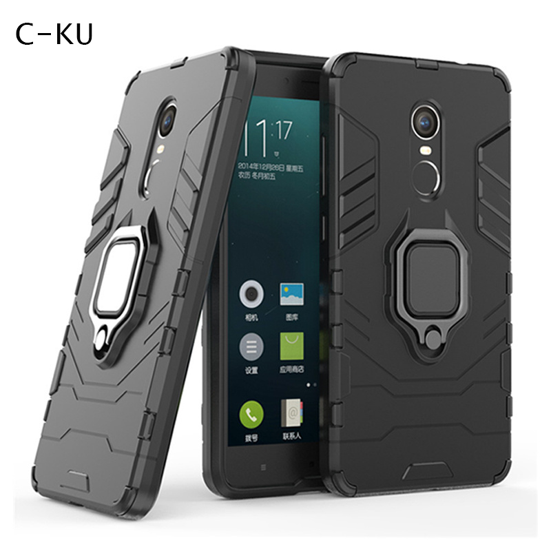 Authentic Phone Case for <font><b>Xiaomi</b></font> <font><b>Mi</b></font> <font><b>8</b></font> Se Max 3 A1 5x A2 <font><b>Lite</b></font> 6x Redmi Note 5 6 Pro 4x Armor Magnetic Car Holder Ring Stand Cover image