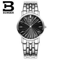 Switzerland 2017 Top Watch Brand Binger Luxury Genuine Stainless S Band Quartz Watches Women Wristwatch Relogio