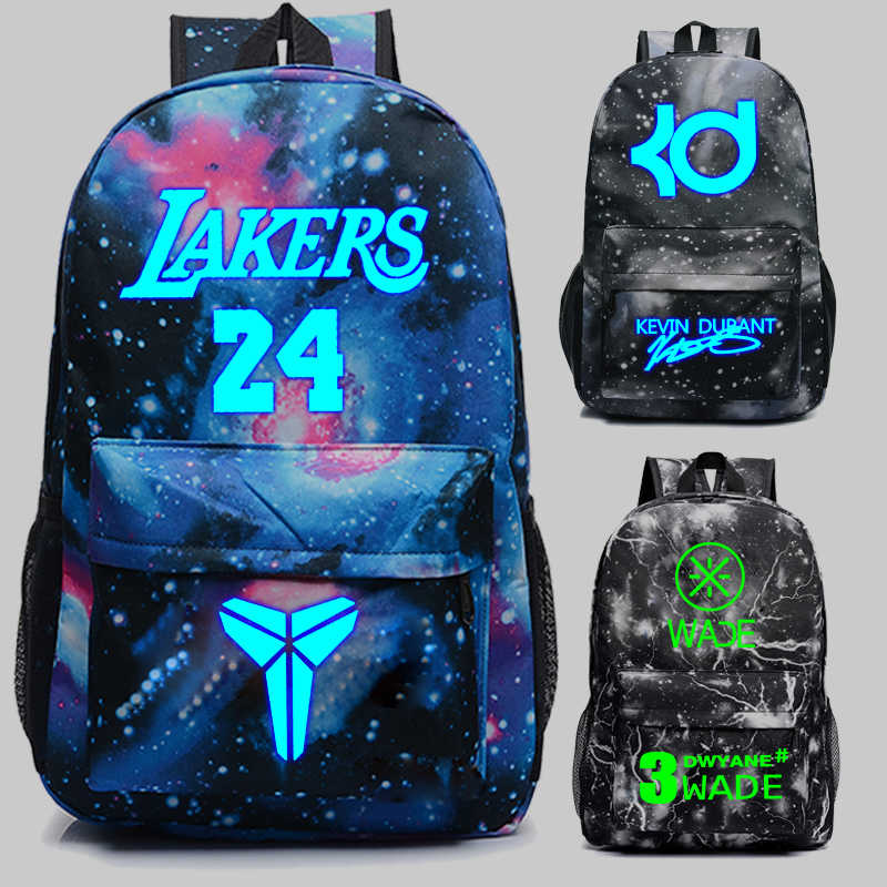 f6305d2a82d2 USA Basketball Star Backpack Kobe James Wade Oxford Knapsack Students s  Durant Schoolbags Girls Boys Noctilucan Shoulder s