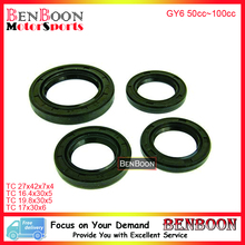 GY6 50cc OIL SEAL SET 4T 139QMB Chinese Scooter Parts ATV Parts Znen Baotian Peace Taotao