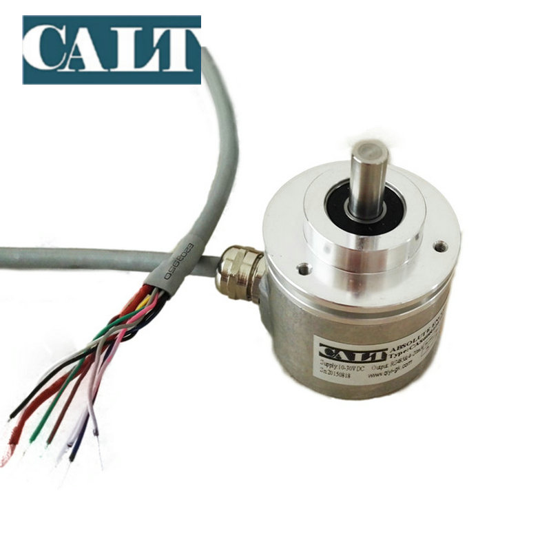 Hot seller CAX60 multiturn linear absolute encoder 4-20mA and RS485 dual output magnetic absolute shaft encoder