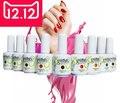 Бесплатная доставка 12 шт./лот Новое прибытие Красота Ногтей уф-гель польский. выдерживает с геля для ногтей, QQ гель. LED гель лак для ногтей