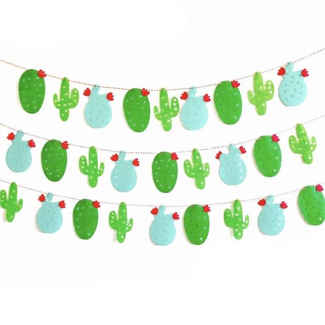 Decorative Party Fabric Cactus Garland
