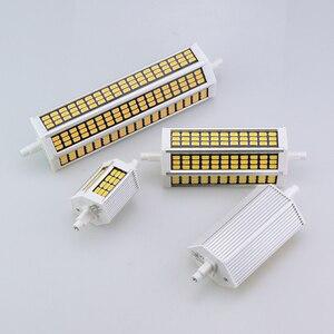 Image 5 - 78 118 135 189 مللي متر R7S عدسة ليد ثنائية الأضواء لمبة 220 فولت 10 واط 20 واط 25 واط 30 واط أمبولة LED R7S الكاشف سمد 5730 عالية التجويف لا وميض