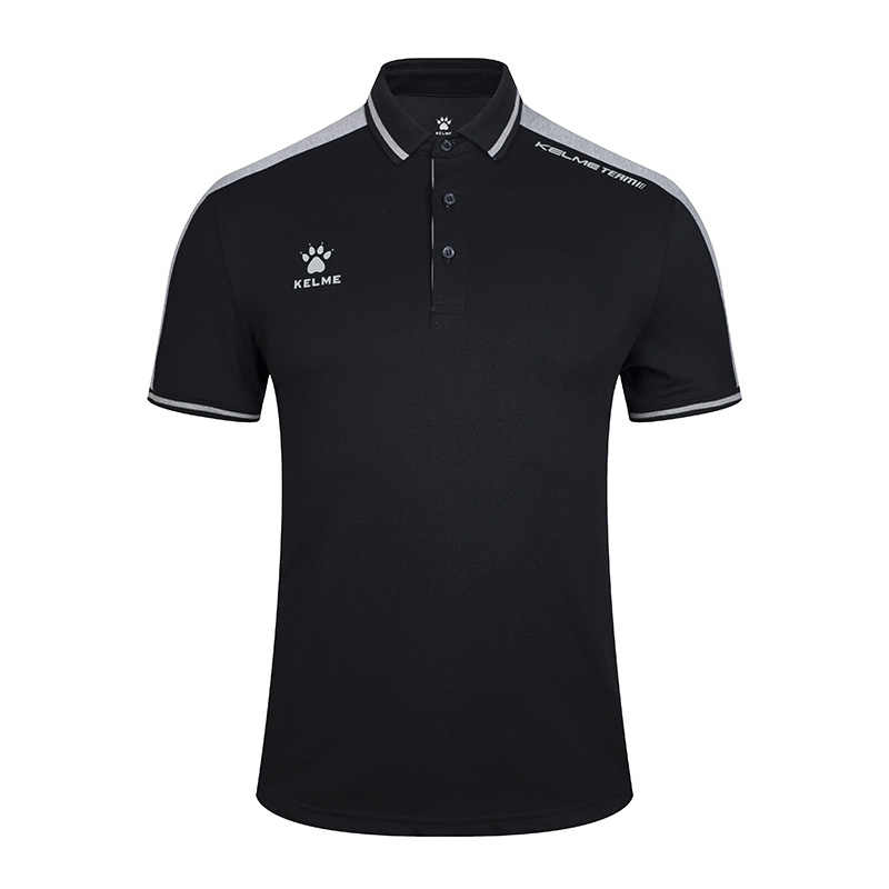 KELME 남성 트레이닝 폴로 티셔츠 여름 러닝 코튼 셔츠 캐주얼 반소매 탑스 남성용 3891068