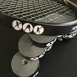 Genuine Tênis powerti Dedicado, protetor de raquete, cabeça da raquete para reduzir o impacto e atrito adesivos tênis overgrip 4.8 M