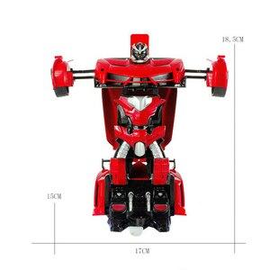 Image 5 - 2In1 RC Voiture De Sport De Voiture Transformation Robots Modèles Télécommande Déformation De Voiture RC combats jouet Cadeau Danniversaire de KidsChildren