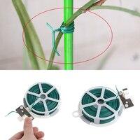 1 rolo planta carretel jardim corda fio clipe carretel cabo slicer jardinagem suprimentos de plástico laço rolo carretel cabo slicer cortador 50m