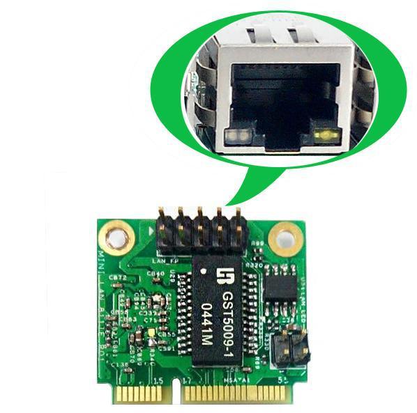 Converter Mini Pcie To LAN Rj45 Port 1000Mbs (MPCIE-RJ45)
