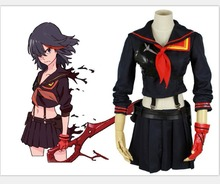 2018 KILL la KILL Ryuko Matoi Cosplay Costume Anime Party Dress halloween costumes for women Girls Custom Made Uniform custom made anime phoenix wright ryuichi naruhodo dress fashion uniform cosply costume shirt coat pants
