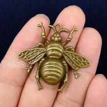 """20pcs-Bee подвески, античная бронза огромный пчелы Чарм """"Пчела"""" кулон 40x38 мм"""