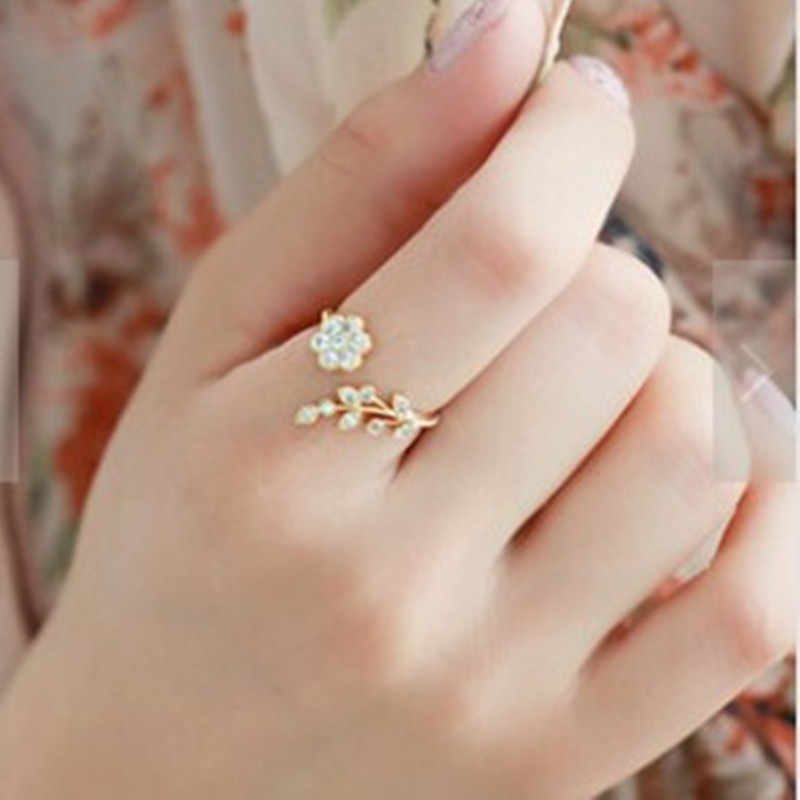 European and American minimalist fashion crystal zircon  male and female tail ring ring temperament