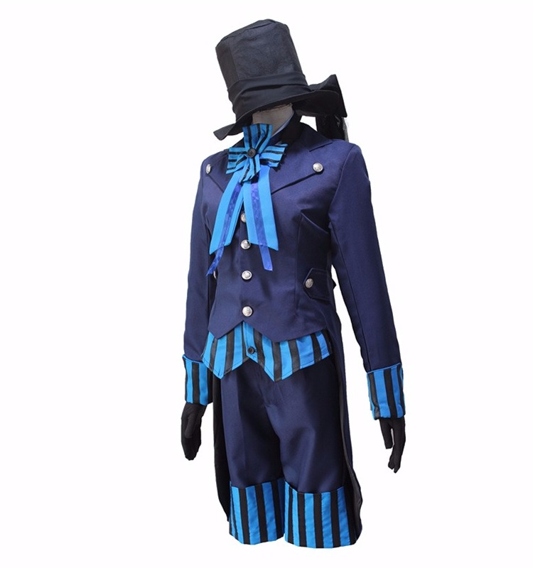 Anime Black Butler Kuroshitsuji Ciel Aniplex Garage Kit full set lavender cosplay costume Female CM223