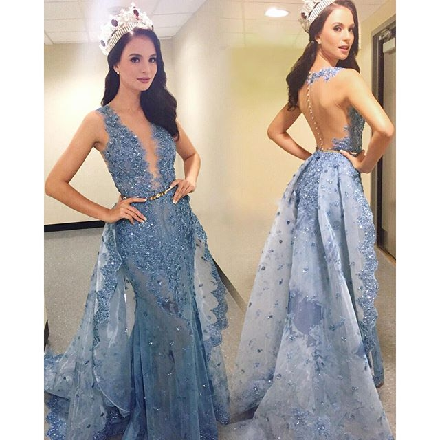 Aliexpresscom Buy Glitter Zuhair Murad Evening Dresses Over Skirt