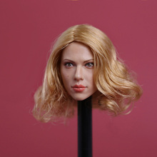1/6 Black Widow Scarlett Johansson Head Sculpt Short Blonde Hair gc002 Female Head Model все цены