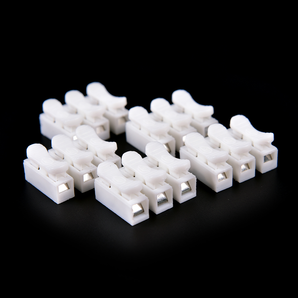 20pcs Electrical 3 Pins Cable Connectors CH3 Quick Splice Lock Wire Terminals For Led Strip