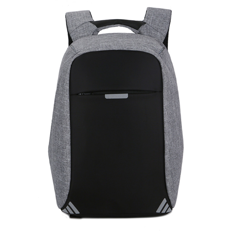 2018 New Double Shoulder Bag Male USB Convenient Charging, Backpack, Leisure Business Computer Package College Schoolbag Male