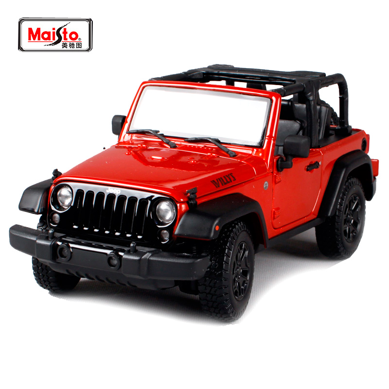 Maisto 1:18 2014 JEEP Wrangler WILLYS SUV Convertible Diecast Model Car Toy New In Box Free Shipping 31610 willys jeep 1 10