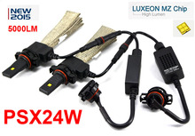 1 Set PSX24W 40W 5000LM CRE / PHILIP Auto LED Headlight LUXEON MZ CHIP 12/24V Xenon WHITE 6000K Driving Headlamp PSX26W P13W H7