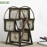 Europe Retro Ferris Wheel Picture Frame Figurines Vintage Windmill Wedding Photo Frame Miniatures Home Decoration Accessories